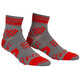 Compressport Racing V2 Trail juoksusukat , harmaa/punainen